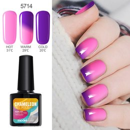 Gel De Uñas De Belleza Baratos-Al por mayor-Modelones Venta caliente Temperatura UV Gel Polaco Nail Art Beauty UV Nail Gel Polish Change Color UV Gel Nail Paint barniz
