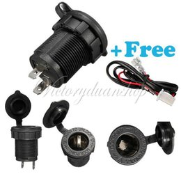 Free Shipping Waterproof 12v 24V Accessory Power Socket Car Motorcycle Cigarette Lighter Plug With 60 cm Wire orderu003c$18no track  sc 1 st  DHgate.com : wiring cigarette lighter socket - yogabreezes.com