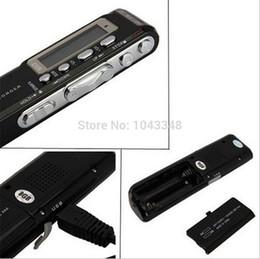 Vor Digital Voice Recorder Canada - Wholesale-1Set Digital Audio Voice Recorder 8GB USB VOR Rechargeable 650Hr Dictaphone MP3 Player Black pen recorder