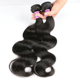 Bundle Hair Weave NZ - Brazilian Hair Weave Grade 7A Real Human Hair Products Mix Length 3pc Hair Bundle Black Brazilian Body Wave Weaves Weft