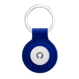 $enCountryForm.capitalKeyWord Canada - Noosa Round Leather Snap Keychain Jewelry 18mm Snap button key chain Fit 18mm 20mm Snap jewelry Keyring
