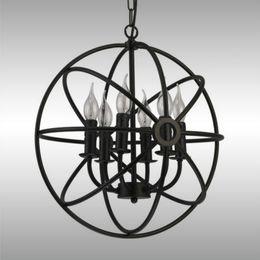 rh lighting retro pendant lamps orb chandelier vintage loft chandelier pendant lamp foucault iron loft industrial light