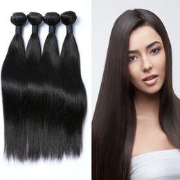 $enCountryForm.capitalKeyWord NZ - Grade 8A UNPROCESSED Brazilian India Raw Virgin Straight Natural Color Hair Bundles with Factory Big Sale