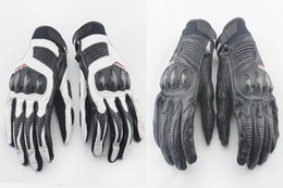 $enCountryForm.capitalKeyWord NZ - 2015 NEW Motorcycle Gloves Touch Korea imported genuine leather carbon fiber Moto racing gloves black white black colors size M L XL