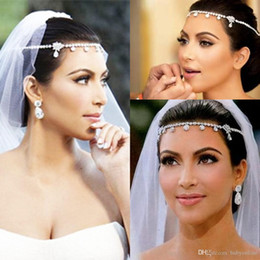 Discount trendy hair fashion - New Design Big Sale Fashion Romantic Wedding Bride Accessories Hair Jewelry Hairwear Wedding Tiara Headbands Wholesale F