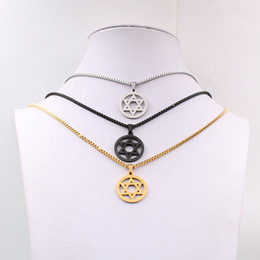 Glass star pendant necklace dhgate uk silver gold black choose mens icp 316l stainless steel star of david design pendant fashion necklace 24mm 24 inch box chain mozeypictures Choice Image