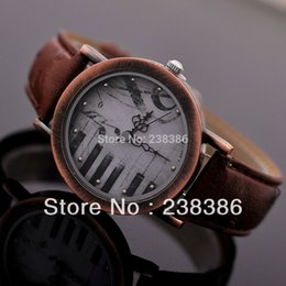 face belt strap Canada - TGJW438 Vintage Watch Dress Watches High Quality Women Clock Piano Key Watch Face PU Leather Strap Ladies' Wristwatch