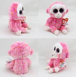 Big eye monkey plush toys online shopping - 2016 New Design cm Pink Monkey Stuffed Animal Toy with Big Crystal Eyes Kids Gift for Festival Birthday Party