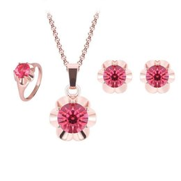 $enCountryForm.capitalKeyWord Canada - Fashion Crystal Wedding Jewelry Sets High Quality Necklace Earrings Rings Set For Women Best Gift Jewelry 61152055