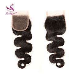 Cheap Loose Body Wave Hair Canada - Top Lace Closure Brazilian Body Wave Wavy Virgin Human Hair Full Lace Closures Cheap Natural Color Bleached Knots Closure 4x4 Size 8-22inch