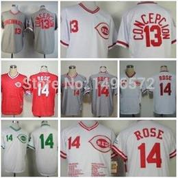 9c5674b0e 30 teams cincinnati reds shirt 13 dave concepcion jersey white throwback  stitched authentic ...