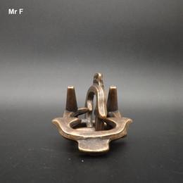 $enCountryForm.capitalKeyWord NZ - Metal Cast Ox Head Puzzle Ring Lock Toys Relax Game 3D Metal Puzzles IQ Brain Teaser Test Prop