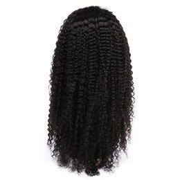 unprocessed virgin human hair curly wig UK - Cheap Kinky Curly Lace Front Human Hair Wigs For Black Women Unprocessed Virgin Hair Full Lace Wigs With Baby Hair Natural Hairline