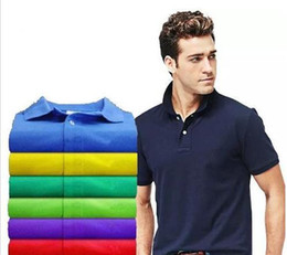 Wholesale New Brand Men Big Horse Embroidery POLO Shirts Brands Cotton Short Sleeve luxury Polo White Collar Male High Quality Polo Shirt S XL