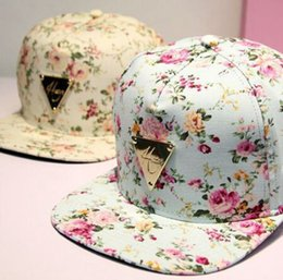Discount baseball cap hater - HATER Snapback Hat Flowers Bone Snap Back gorras Men Hip Hop Cap Sport Baseball Cap Fashion Flat-brimmed Hat