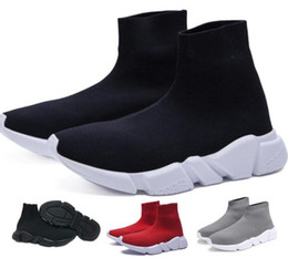 Womens High Socks Canada - Best Sock Shoe Speed Trainer Running Shoes High Authentic Sneakers Speed Trainer Sock Race Runners White Shoes Mens Womens Sports Shoes