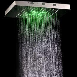 360x500mm luxury rectangular rain shower head for ceiling mountedbathroom shower