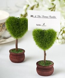 $enCountryForm.capitalKeyWord NZ - DHL 50pcs potted plant love heart tree Place Card photo Holders Baby Shower Gifts & Wedding Favors party gift 1203#03