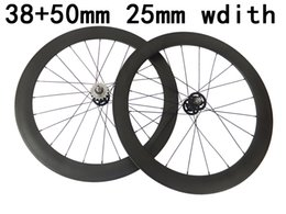 Cheap Gears NZ - cheap price 25mm width wheelset fonrt 38mm rear 50mm track bicycle wheelset carbon fixed gear wheels