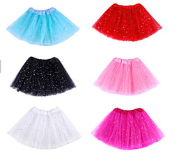 glitter costumes 2019 - 6 Color Star Glitter Sparkle Tulle Tutu Ballet Girl Dance Skirt Costume Party Skirt 20pcs discount glitter costumes