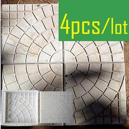 d79cc2994eda 4 Pieces Lot Walk Path Brick Cement Maker Concrete Plastic Mold Diy Garden  Walking Road Bricks Decoration Round Pattern