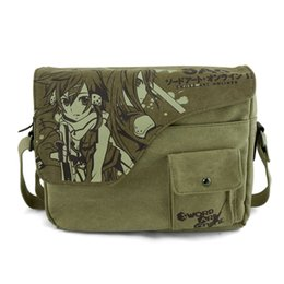 China Wholesale-Anime Sword Art Oneline Canvas Satchels Messenger Shoulder Bag SAO Sling Bag Cosplay cheap sao cosplay suppliers