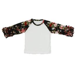 3af1460e Wholesales Big Children Boutique Clothing T-shirt Europe Fashion Ruffle  Raglan Big Children Tees Free Shipment