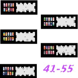 airbrushing stencils UK - 2017 New Fashion Airbrush Nail Stencils Set 41-50 Tools Diy Airbrushing 10 x Template Sheet for Airbrush Kit Nail Art Paint