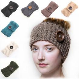 Fashion Manual Weave Women Fasce con bottoni vintage sulle fasce Nuovi accessori per capelli 18 colori in Offerta