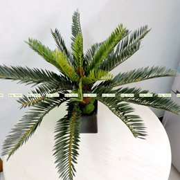 Discount coconut flowers - 2017 Artificial Phoenix Coconut Palm Cycas Plant Tree Wedding Home Garden Furniture Decor Lifelike Green No Vase At129