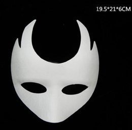 mask designs for children 2019 - 8 Design Halloween costume party Mask Paper pulp mask DIY Self-Portrait masquerade masks christmas props Hallowmas Masqu