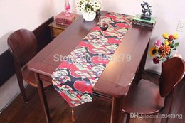 $enCountryForm.capitalKeyWord Canada - New Designs Cotton Fan Pattern Christmas Table Runner Long Coffee Table Cloths Chinese style Bed Runner size L200 x W30cm 1pcs F