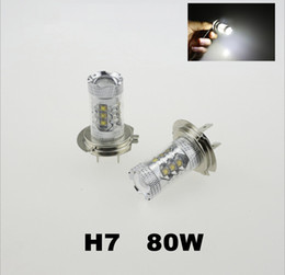 car lights 2019 - New Car-styling Super White H7 High Power 80W LED Projector 1920 Lumen Fog Driving Fog Light DRL Replacement Bulbs cheap