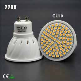 Bulb Warmer Heat Lamps Canada - Full Watt 6W 8W GU10 LED Bulb lamp Heat-resistant Body AC 110-220V 60LEDs 80LEDs Spot light 2835SMD For Indoor lighting