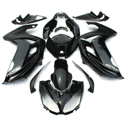 Motorcycle Body Kit Canada - Complete Fairings For Kawasaki ER-6f Ninja 650 12 13 14 ER6f 2012 2013 2014 ABS Plastic Motorcycle Fairing Kits Cowling Gloss Black Body Kit