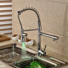 $enCountryForm.capitalKeyWord NZ - Pull Down LED Spout Chrome Brass Kitchen Faucet Vanity Sink Mixer Tap Deck Mounted Single Handle Hole