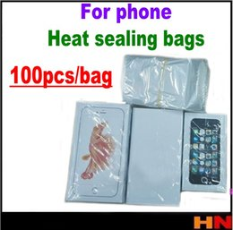 Discount heat seals - 100pcs For iphone 4 5 6 8 X For samsung mobile phone packaging shrink film Parafilm Heat sealing bag Parafilm