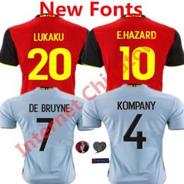 92657df9520 ... 2016 Belgium Soccer Jersey Eden Hazard camisetas de futbol 1516 Lukaku  Witsel Fellaini De Bruyne Belgium Chelsea 2017-18 ...