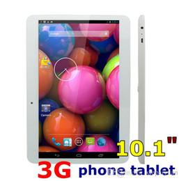 Rams Inch Tablet Canada - 10.1 Dual SIM Quad core 3G Tablet PC 10.1 inch MTK6572 phone tablet pc 1024*600 1GB RAM + 8GB Phablet