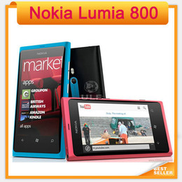 Original Desbloqueado Nokia Lumia 800 Windows Mobile OS 16GB ROM 8MP 3G Wi-Fi GPS Bluetooth remodelado telefone celular
