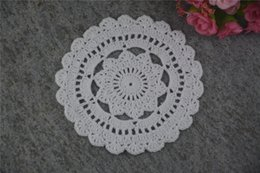 $enCountryForm.capitalKeyWord UK - DIY Design Wedding Handmade Crochet Coasters Doily Placemats Crocheted Doilies Size 5 inches 30 PCS  LOT Custom Color _DSC0112