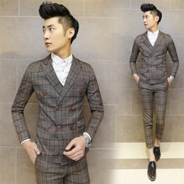 Mens Plaid Double Breasted Suits Canada | Best Selling Mens Plaid ...