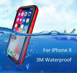 Red Waterproof Case For Iphone Australia - Redpaper Waterproof Case Shockproof Dirtproof Snowproof Protective Phone Case for iPhone X   iPhone 10 DHL Free Ship