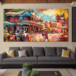 Art Canvas Prints Australia - 1 Panel Oil Painting Main Fremantle Strip Canvas Art Wall Pictures For Living Room Home Decor Printed No Framed