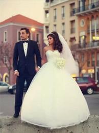 $enCountryForm.capitalKeyWord Canada - 2015 White Crystal Ball Gown Wedding Dresses Sweetheart Pearl Floor Length Corset Wedding Gowns Vestidos De Novia Spring Bridal Gown