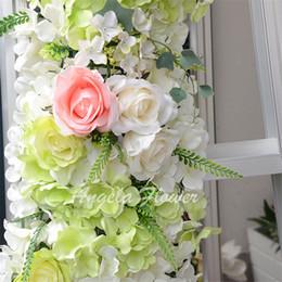 $enCountryForm.capitalKeyWord Canada - Hot sale 3 color 44cm*44cm Hydrangea blanket Artificial silk flower decoration for wedding pillar decoration carpet