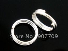 Оптовая продажа-1000 посеребренные двойные петли открыть прыжок кольца 6 мм / ювелирные изделия Diy Бесплатная доставка