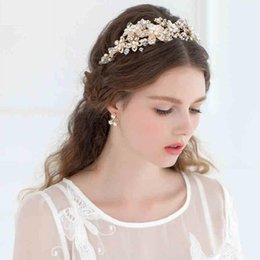 Discount classic hair accessories - New Fashion Vintage Wedding Accessories Head Pieces Pearls Crystals Wedding Bridal Hair Accesories Hairband Bridal Hair