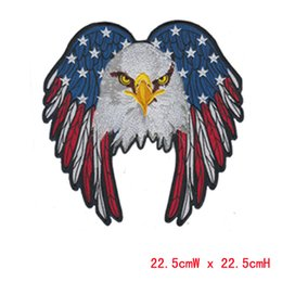 $enCountryForm.capitalKeyWord Canada - Beautiful big size eagle professional computer embroidery patch&badge hot cut border Iron on free shipping accept customised