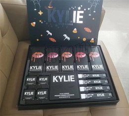 Cajas De Sombras Baratos-NUEVA Kylie Fall Collection Jenner Lip kit Liquid Lipstick Lipgloss sombra de ojos power big box purple palette high light regalo de navidad